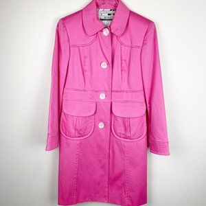 Vintage Nine & Company bubblegum pink trench coat